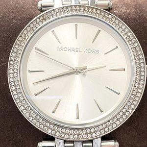 Michael Kors Silver-Tone Glitz Darci Watch
